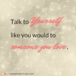talking to yourself Self-Talk, Mingling Self-Supporting